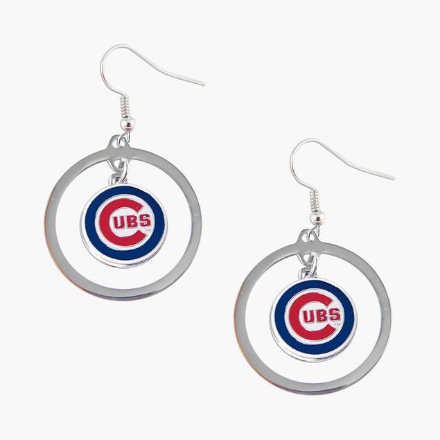 Chicago Cubs Hoop Logo Earring Set MLB Charm