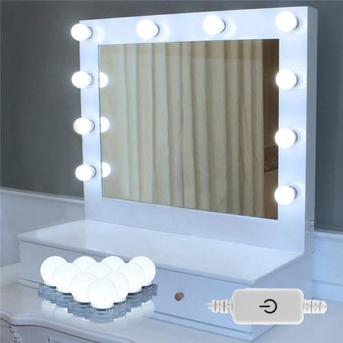 LED Vanity Mirror Lights Makeup Lighting Kit With 10 Light Bulbs