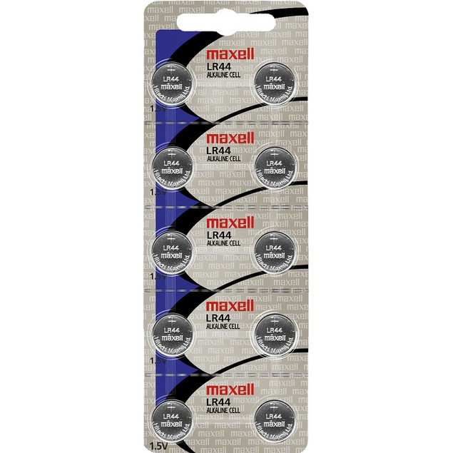 Maxell LR44 (A76) Alkaline Button Cell Battery (10 Pack)