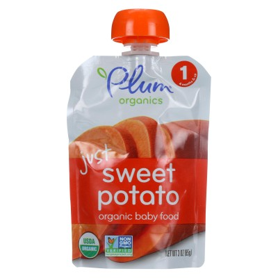 Plum Organics Just Veggie Baby Food - Sweet Potato - Pack of 6 - 3 oz.