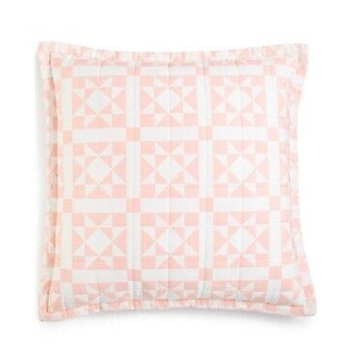 "Calvin Klein Abigail 22"" X 22"" Decorative Pillow Pink"