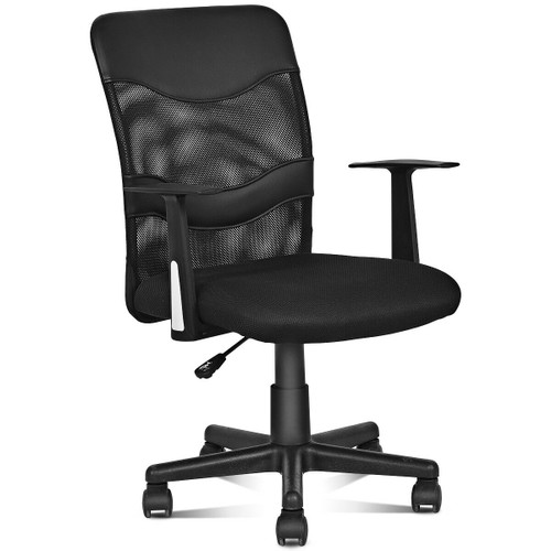 Costway Modern Mesh Mid-Back Executive Computer Desk Task Office Chair Ergo