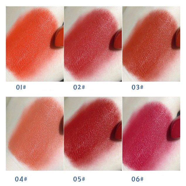 6Pcs Moon Star Lipstick Moisturizing Moisturizing Non-discoloring Lipstick Student Makeup