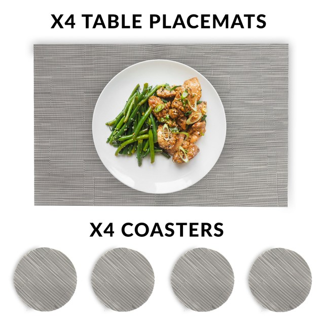 Grey Table Mat Set | Pukkr