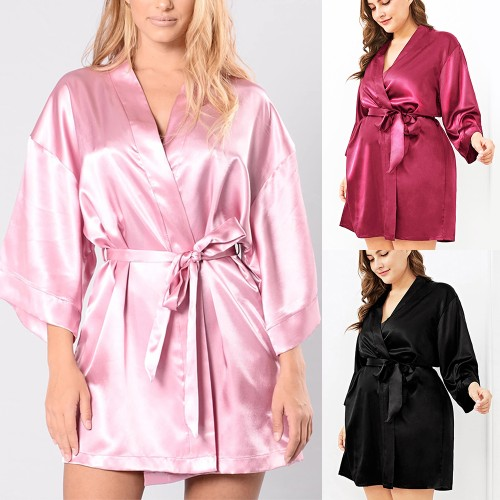 Plus Size Bow Tie Nightgown