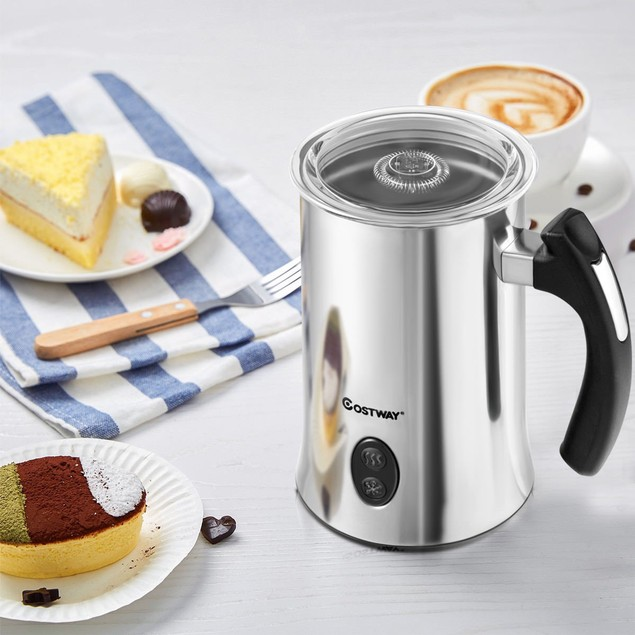 Costway Electric Automatic Milk Frother & Heater Steamer with Hot or Cold M