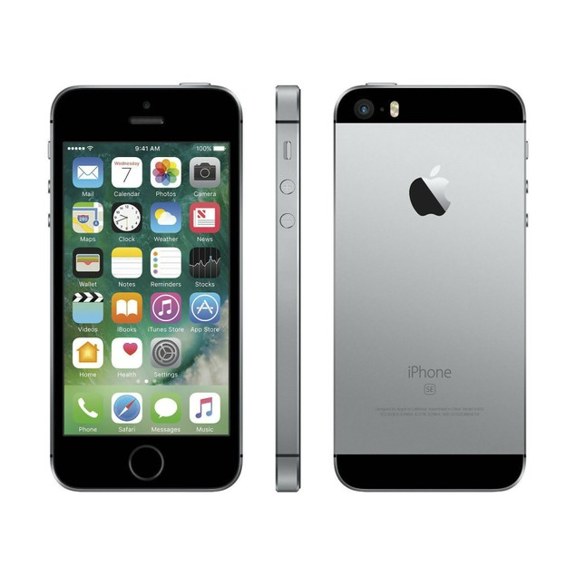 Apple iPhone SE 32GB Verizon GSM Unlocked T-Mobile AT&T 4G LTE Space Gray - MP8K2LL/A