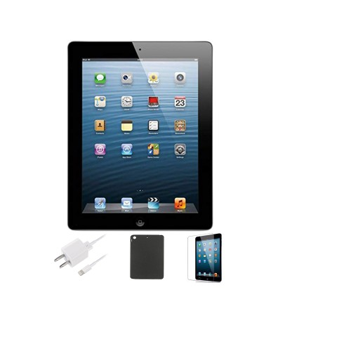 Apple iPad 4 16GB Bundle (Case, Charger, Tempered Glass Screen Protector)