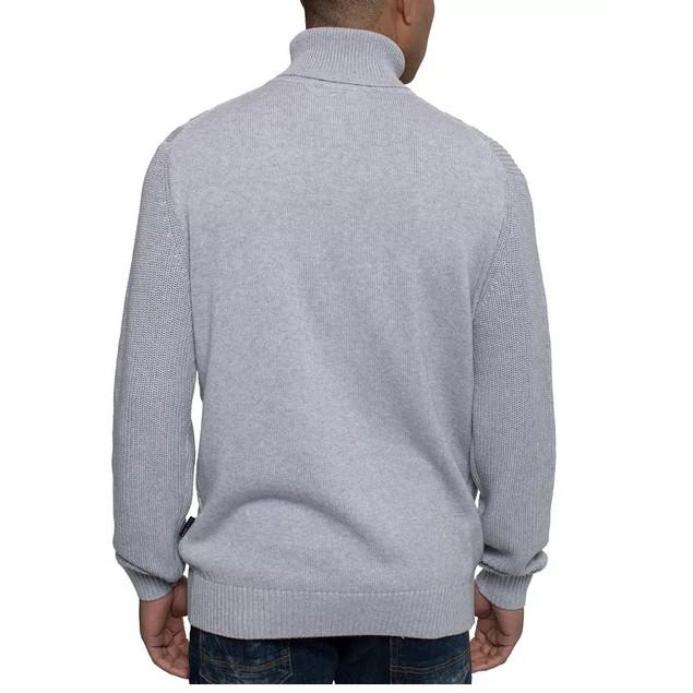 Sean John Men's Tri-Pattern Turtleneck Sweater Gray Size XX-Large