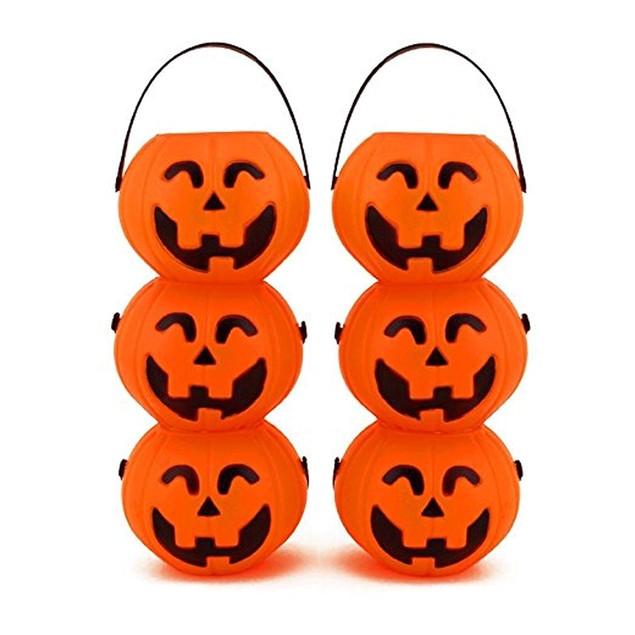 Small Mini Plastic Jack O Lantern Pumpkin Halloween