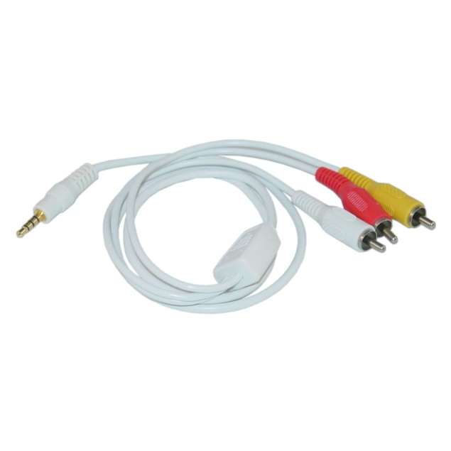 3.5mm AV Audio Video Cable for iPod, 6 foot