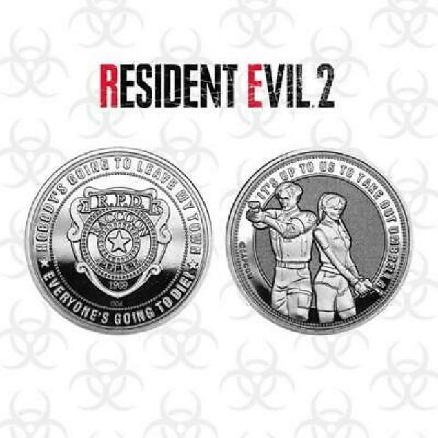 Resident Evil 2 Limited Edition Collectable Coin Silver Edition