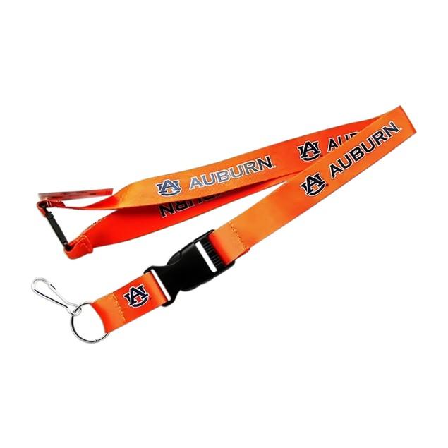 Auburn Tigers Clip Lanyard Keychain Id Holder Ticket - Orange