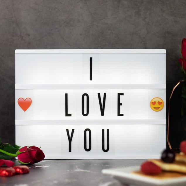 A4 Lightbox with 205 Letters and Emoji | Pukkr