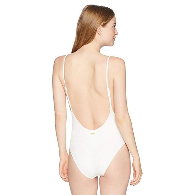 Roxy Women's Surf Memory One Piece Swimsuit, Marshmallow, M