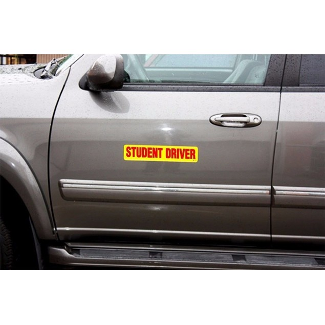 Zone Tech Red Student Driver Magnet Reflective Vehicle Car Bumper Sign