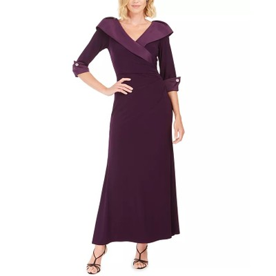 Jessica Howard Women's Portrait Collar Gown Purple Size 6