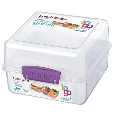 4-PACK Sistema To Go Lunch/Salad Food Container Bundle w/ Easy-Locking