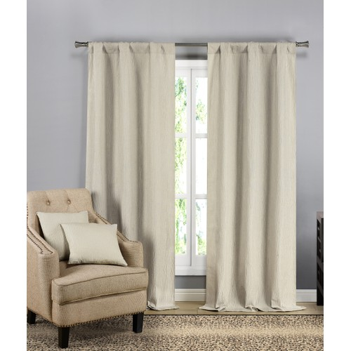 Solid Blackout Curtain Pair Panels with Decorative Pillow Covers (Set of 2)