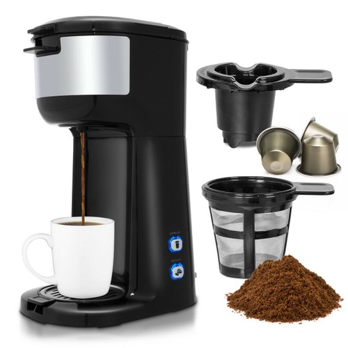 Costway 2-in-1 Portable Coffee Maker for Ground and Capsule
