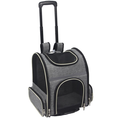 Mr. Peanut's Malibu Series Backpack Pet Carrier Stroller With Detachable Wh