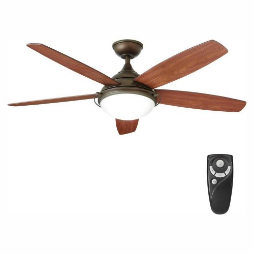 """Home Decorators Collection Gramercy 52"""" LED Indoor Espresso Ceiling Fan,"""