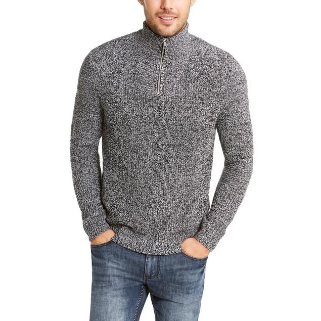 INC International Concepts Quarter-Zip Sweater Gray 2 Extra Large