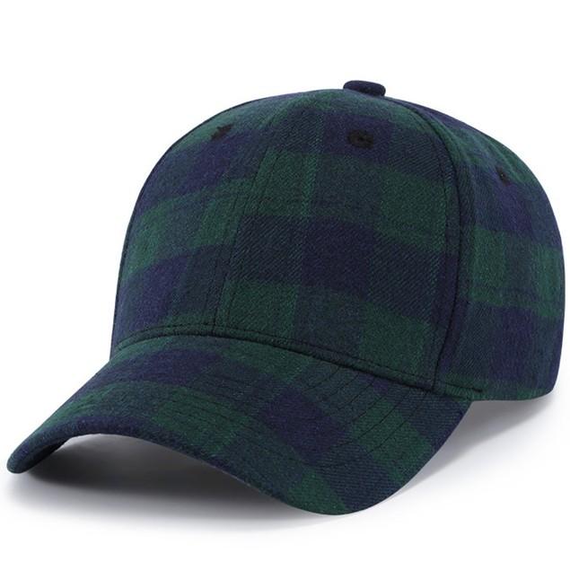 Men Women Baseball  Plaid Cap Snapback Hat Hip-Hop Adjustable