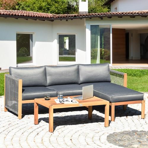Costway 3PCS Patio Sofa Furniture Set