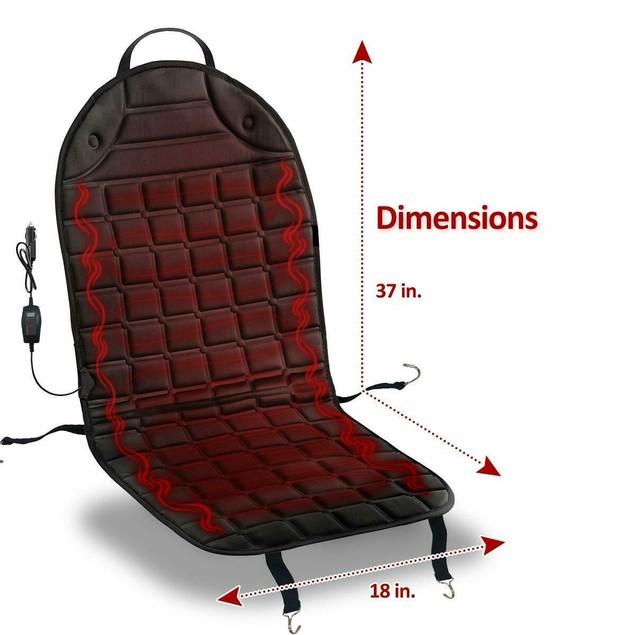 Zone Tech 2x Thickening Heated Car Seat Chair Heater Cover Cushion Warmer