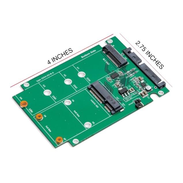 "M.2 & mSATA SSD Dual Connector to SATA III 2.5"" Enclosure"
