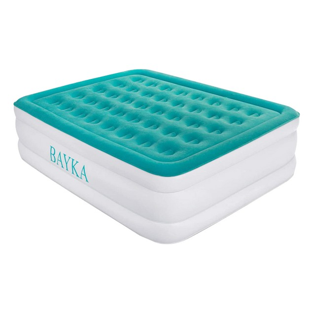 "BAYKA 18"" Twin Height Air Mattress with Built-In Pump"