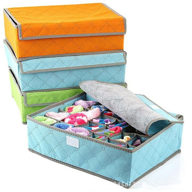 Multi-cell Underwear Socks Storage Box