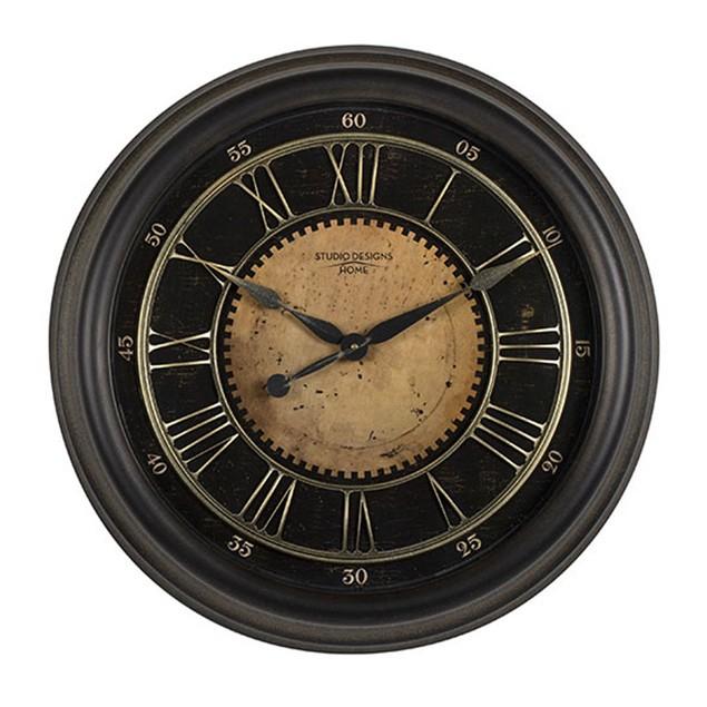 """Offex Home 24"""" Classic Villa Wall Clock - Antique Bronze"""