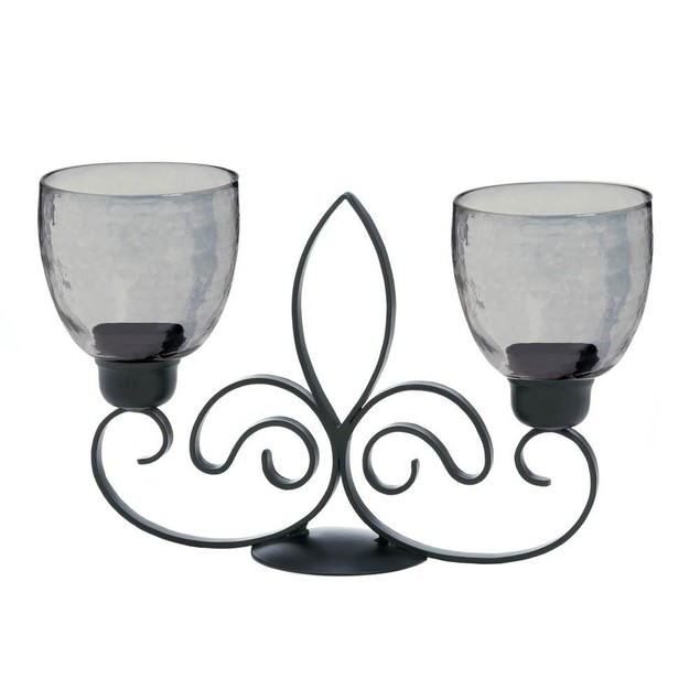 Gallery of Light Fleur De Lis Duo Candle Stand