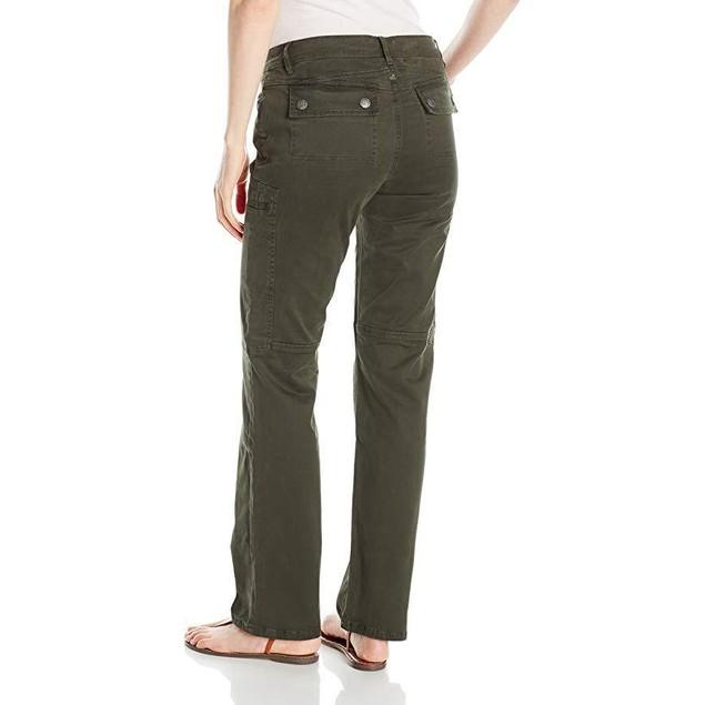 prAna Women's Louisa Straight Leg Pants, Size 4, Dark Olive