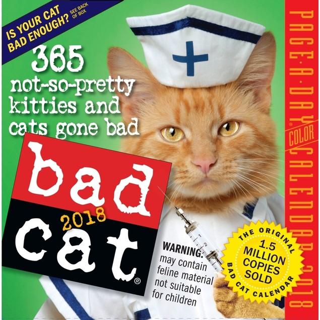 Bad Cat Desk Calendar, Funny Cats by Calendars