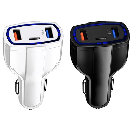 3 Port Fast Charge 3.0 Car Charger