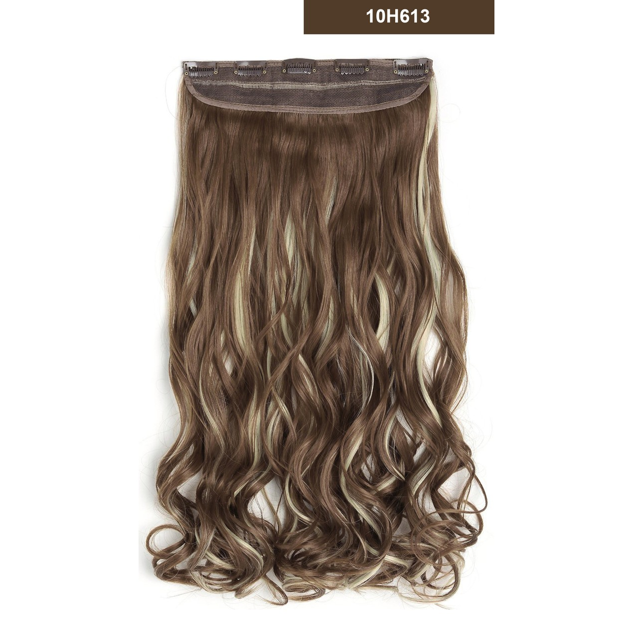 20 Curly 34 Full Head One Piece Synthetic Hair Extensions Tanga