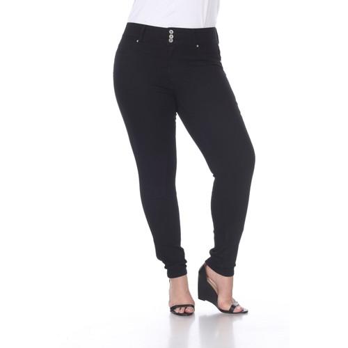 Plus Size Super Stretch Black Denim Jeans