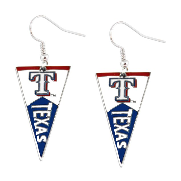 Texas Rangers MLB Pennant Dangle Earring