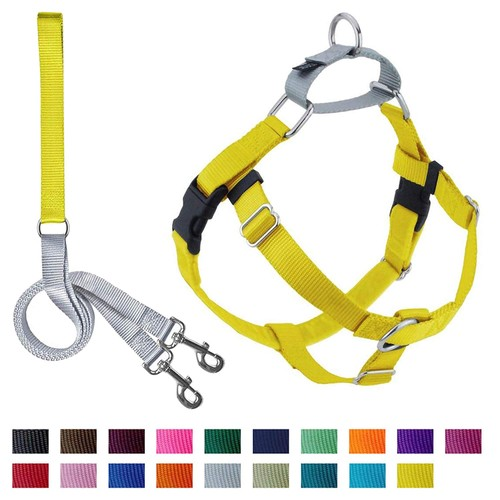 2 Hounds Design Freedom No-Pull Dog Harness with Leash, Large, Yellow