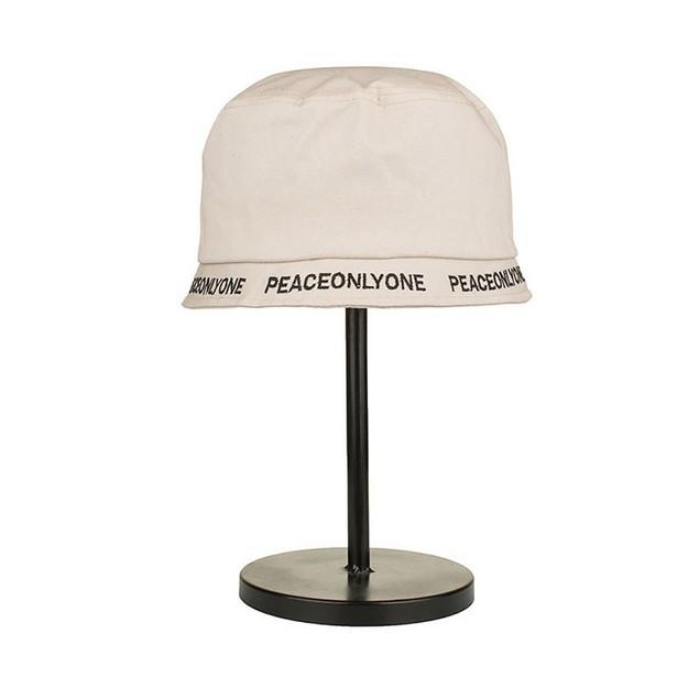 Women Men Cotton Plain Embroidery Short Eaves Basin Cap Fisherman Hat C