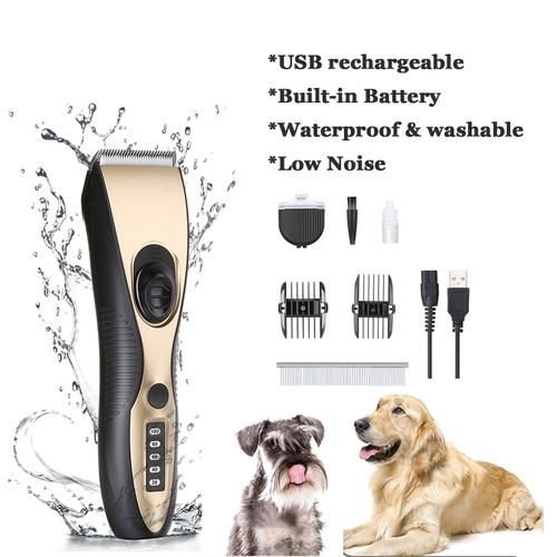 PET HAIR CLIPPER SET WATERPROOF DOG GROOMING TOOLS & TRIMMER KIT