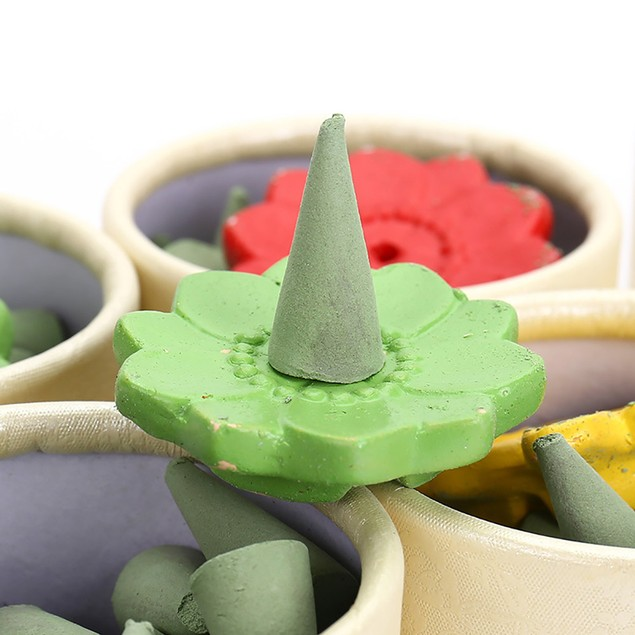 40 Floral Incense Cone Fragrance Rose Tulip Scent Tower Incense