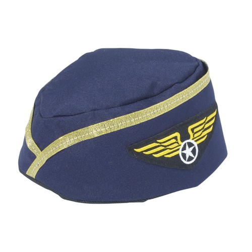 Blue Stewardess Hat