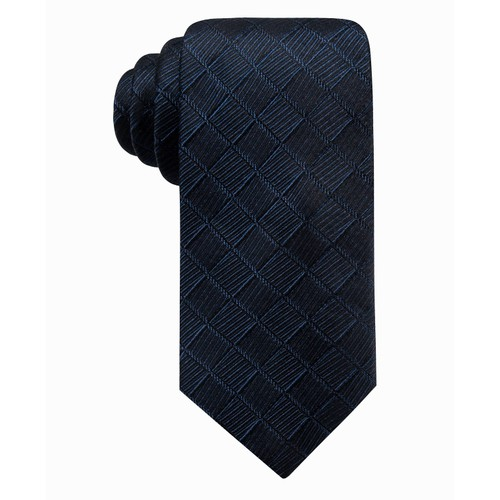 Ryan Seacrest Distinction Men's Franco Geo Silk Tie  Navy Size Regular