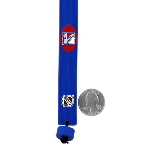 New York Rangers Team Color NHL Gamewear Leather Hockey Bracelet