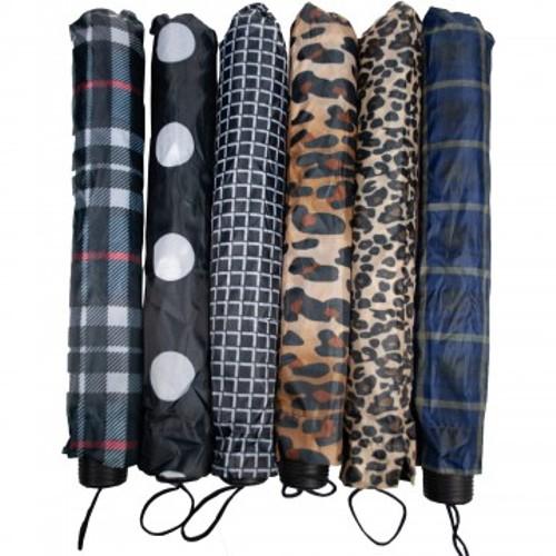 2 Pack - Stylish Nylon Folding Umbrella