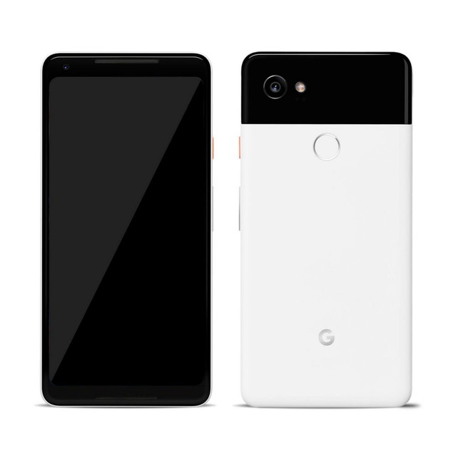 Google Pixel 2 XL, Unlocked, Grade B+, Black, White, 64 GB, 6 in Screen